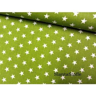 Stoff Sterne, 1cm, olive, 100% Baumwolle   kaufen