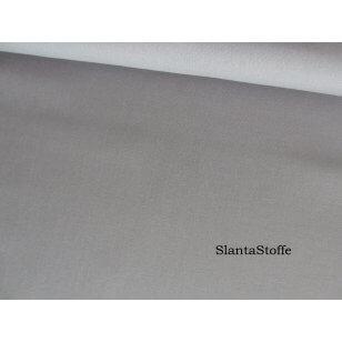 Baumwollstoff Uni, grau, 100% Baumwolle kaufen