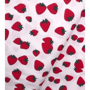 "Jersey Interlock , Kinderstoff ""Erdbeere"" kaufen"