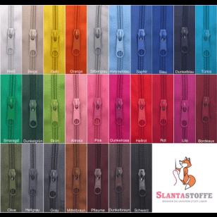 20m endlos Reißverschluss 5 mm + 40 Schieber 27 Farben, Meterware kaufen