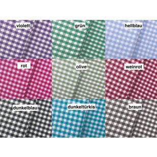 Baumwollstoff Dekostoff Karo groß 9 mm 9 Farben kaufen