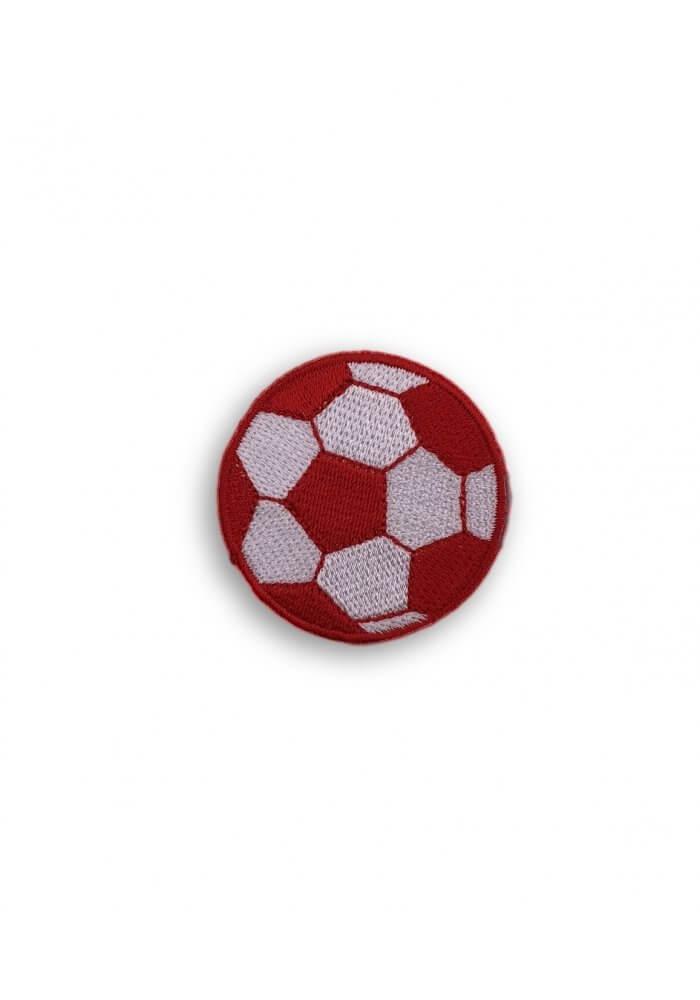 Applikation Fussball Bugelbild In Rot Weiss