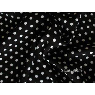 Viskose Jersey , Punkte, schwarz, weiß kaufen