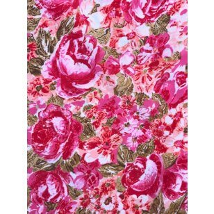 Royal Micro Satin Stoff Polyester rosa kaufen