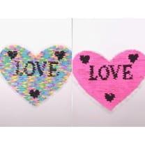 Wendepailletten XL-Patch Aufnäher Applikation Herz Love