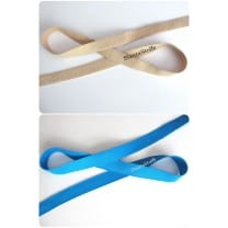 Gummiband, Gummilitze, blau, beige, 30mm