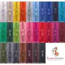 5m endlos Reißverschluss 5 mm + 10 Schieber - 27 Farben, Meterware