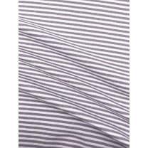 Bündchenstoff Schlauch Meterware Streifen grau