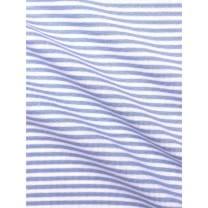 Bündchenstoff Schlauch Meterware Streifen hellblau
