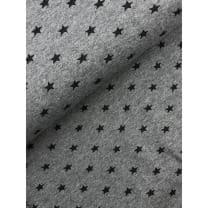 Bündchenstoff Stoff Schlauch Meterware Sterne grau