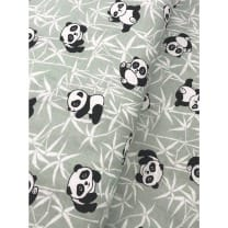 Baumwollstoff Kinderstoff Panda Bär mint Breite 160cm
