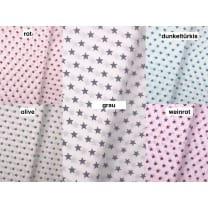 Baumwollstoff Stoff Sterne 1cm 5 Farben
