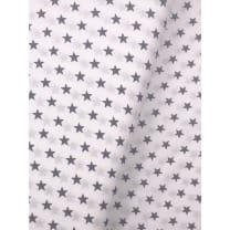 Baumwollstoff Stoff Sterne 1cm grau