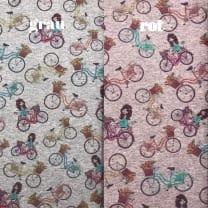Sweat French Terry Fahrräder 2 Farben