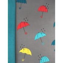 Softshell Kinderstoff Regenstoff Regenschirm grau