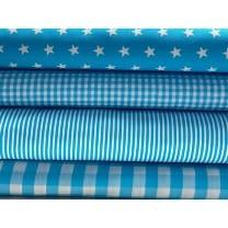 Stoffpaket Stoffset Baumwolle in türkis