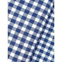 Baumwollstoff Dekostoff Denim Karo blau