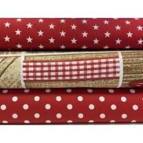 Stoffpaket Stoffset Baumwolle Dekostoff Weihnachten
