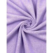 Strickstoff Baumwolle uni lavendel angeraut