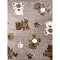 Fleecestoff Teddy Bär taupe doppelseitig Breite 150 cm ab 50cm