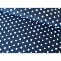 Baumwollstoff Popeline, dunkelblau, Sterne 1cm, Baumwolle 100%