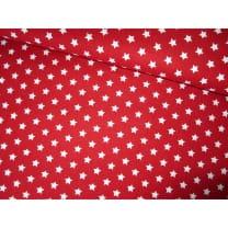 Baumwollstoff Popeline, rot, Sterne 1cm, Baumwolle 100%