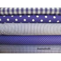 Stoffpaket, violett, 5 Stoffstücke, Baumwollstoff