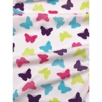 Single Jersey Kinderstoff Schmetterling