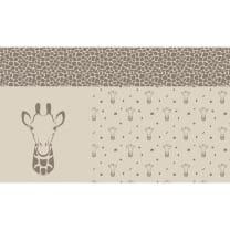 Panel Jacquard Stoff Giraffe Kinderstoff Strick 0,95m x 1,50m