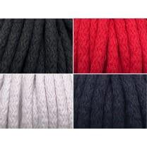Kordel Baumwolle 8mm rund Schnur, 4 Farben
