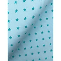 Bündchenstoff Stoff Schlauch Meterware Sterne mint