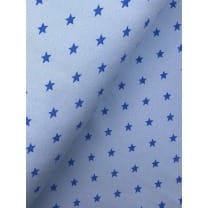 Bündchenstoff Stoff Schlauch Meterware Sterne hellblau