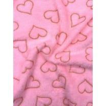 Fleecestoff Wellness Herzen rosa Breite 165 cm ab 50cm