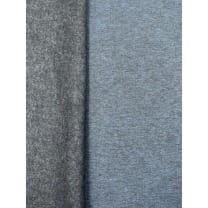 Sweat French Stoff meliert uni jeansblau Breite 150cm ab 50cm