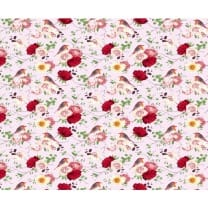 Baumwollstoff Kinderstoff Vögel rosa Breite 160cm ab 50 cm