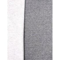 Sweat French Stoff meliert uni grau Breite 150cm ab 50cm