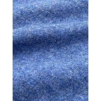 Walkloden Schurwolle gekochte Wolle meliert blau Breite 140 cm ab 50 cm