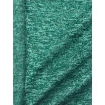 Strickstoff Strickfleece Stoff Fleece meliert dunkelmint
