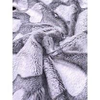 Pelz Stoff Herz Fleece Fellimitat Breite 165 cm ab 50 cm