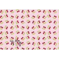 Baumwollstoff Kinderstoff Kirsche rosa Breite 160cm ab 50 cm