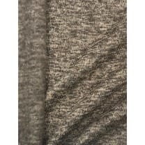 Strickstoff Strickfleece Stoff Fleece meliert helltaupe