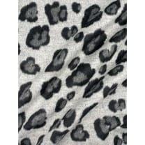 Mantelstoff Stoff Leopard Tiermuster grau ab 50 cm