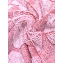 Pelz Stoff Herz Fleece Fellimitat Breite 165 cm rosa