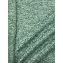 Strickstoff Strickfleece Stoff Fleece meliert altmint