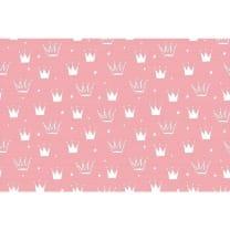 Baumwollstoff Kinderstoff Krone rosa Breite 160cm ab 50 cm