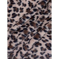 Pelz Stoff Fellimitat Tierdruck Panther Breite 150 cm ab 50 cm