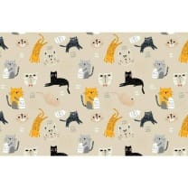 Baumwollstoff Kinderstoff Katzen Breite 160cm ab 50 cm