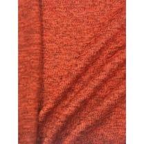 Strickstoff Strickfleece Stoff Fleece meliert terrakot