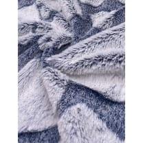 Pelz Stoff Herz Fleece Fellimitat Breite 165 cm dunkelblau