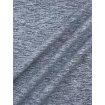Jersey Baumwolle-Leinen uni meliert dunkeljeans